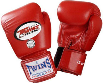 Перчатки боксерские Twins для муай-тай (красные) 12 oz BGVL-3-red-12 фото
