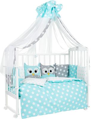 Комплект в кроватку Sweet Baby Uccellino Turchese (Мятный) 7 пр. 424 464 комплект в кроватку kidboo sweet home 6 предметов pink