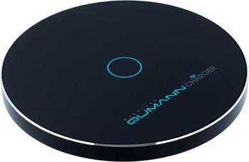 Беспроводное зарядное устройство Qumann QWC-02 Wireless Disc Qi Fast Charger Black 50520
