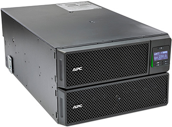 Источник бесперебойного питания APC Smart-UPS SRT SRT8KRMXLI 8000Вт 8000ВА черный источник бесперебойного питания apc smart ups srt 1500va rm 230v 1500va черный srt1500rmxli