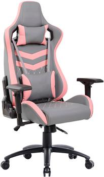 Кресло Tetchair, iPinky кож/зам серый/розовый, Россия  - купить со скидкой