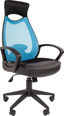 Кресло руководителя Chairman, 840 черный пластик TW-34 голубой 00-07025296, Россия  - купить со скидкой