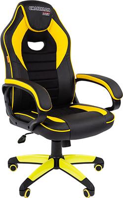 Кресло Chairman game 16 экопремиум черный/желтый 00-07028514 фото