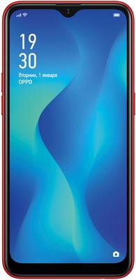 Смартфон OPPO A1k красный смартфон oppo a1k черный 6 1 32 гб lte wi fi gps 3g bluetooth cph1923