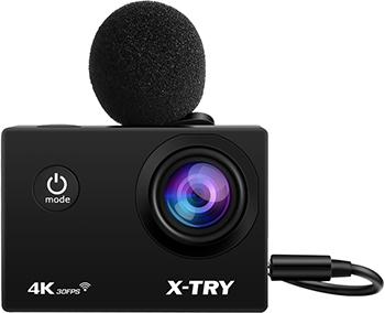 Фото - Экшн-камера X-TRY XTC194 EMR 4K WiFi экшн камера очки x try xtg371 uhd 4k 64 gb cristal