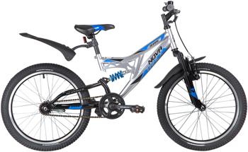 цена на Велосипед Novatrack 20'' SHARK серебристый сталь 1 скор. V-brake