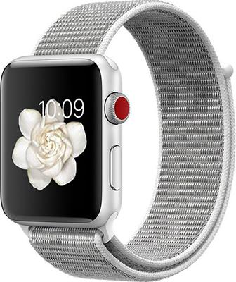 Ремешок для часов Eva для Apple Watch 42/44 mm Серый/Белый (AWA009WS) ремешок для часов eva для apple watch 42mm белый awa001w