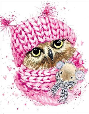 Фото - Алмазная мозаика Цветной ''Зимняя сова'' (40х50) на подрамнике lg208 алмазная мозаика цветной букет нежных цветов 40х50 на подрамнике lg104
