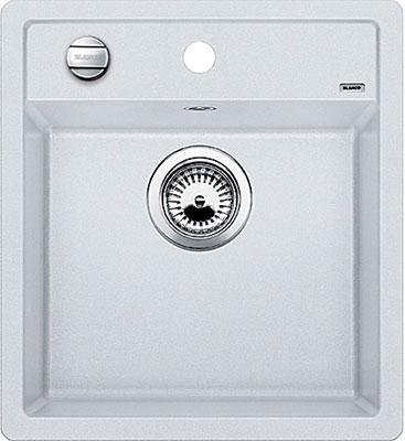 Кухонная мойка BLANCO DALAGO 45 SILGRANIT белый с клапаном-автоматом кухонная мойка blanco dalago 45 f silgranit кофе с клапаном автоматом