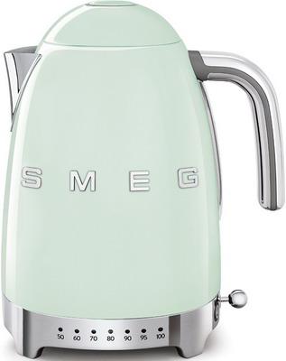 Чайник электрический Smeg KLF 04 PGEU пастельный зеленый тостер на 4 ломтика smeg пастельный голубой tsf03pbeu