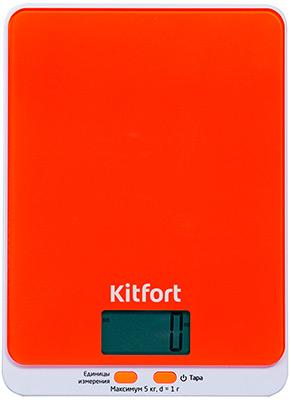 Кухонные весы Kitfort КТ-803-5 оранжевые