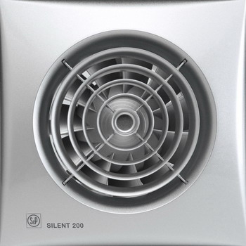 Вытяжной вентилятор Soler & Palau SILENT-200 CRZ SILVER (серебро) 03-0103-116 цена в Москве и Питере