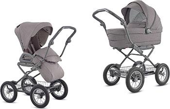 Коляска Inglesina Sofia System Duo 2 в 1 на шасси Ergo Bike (AA 15 K6SDG AE 15 H 6100) SIDERAL GREY KA 15 K6SDG коляска для новорожденных inglesina sofia на шасси ergo bike ab15k6mgl ae15h6100 marron glace