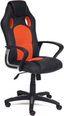 Кресло Tetchair RACER NEW (кож/зам/ткань черный/оранжевый 36-6/07) кресло tetchair runner кож зам ткань черный оранжевый 36 6 tw 07 tw 12