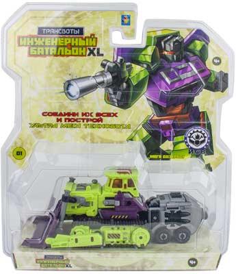 Трансформеры 1 Toy Трансботы ''Инженерный батальон XL: Мега Дозербот'' роботы 1 toy робот трансботы инженерный батальон xl мега кранер