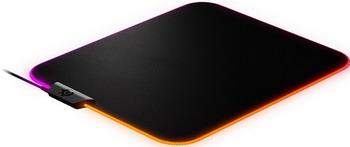Игровой коврик для мыши SteelSeries QcK Prism Cloth Medium RGB подсветка черный коврик steelseries medium qck edge black