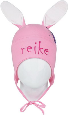 Шапочка Reike Зайчики розовая р. 46 шапочка с отворотом для девочки barkito лошадки
