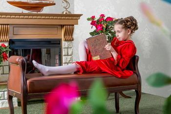 Костюм театральный ХоумАпплайнс рост 128 красный водолазка для девочки nota bene цвет молочный cjr27035 17 размер 128