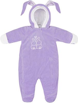 Комбинезон Picollino велюровый Кролик утепленный СК3-КМ002 (в) сиреневый 68-44(22) комбинезон утепленный для новорожденного boom вариант 2 цвет молочный 90011 bom размер 68 6 месяцев