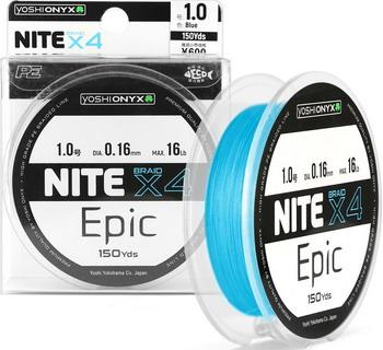 Леска Yoshi Onyx NITE Epic х4 Light Blue 154646 удилище спиннинговое yoshi onyx casta 702mh 2 1 м 8 35 г