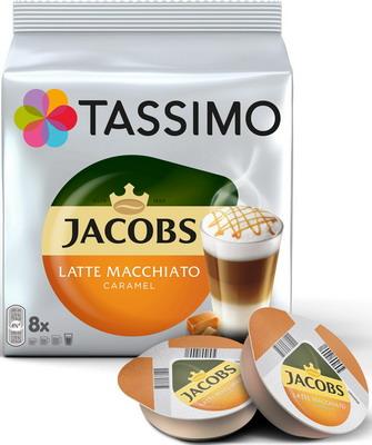 Кофе капсульный Tassimo Латте Макиато Карамель кофе капсульный tassimo латте макиато бейлиз