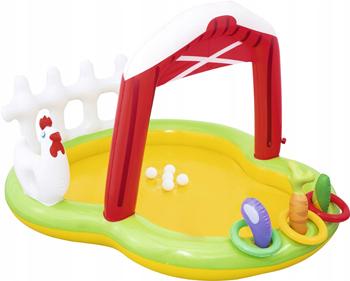 Детский игровой бассейн BestWay, с фонтаном и принадл. Ферма 175х147х102 121 л от 2 лет 53065 BW, Китай  - купить со скидкой