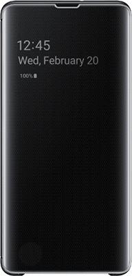 Чехол (флип-кейс) Samsung S 10+ (G 975) ClearView black EF-ZG 975 CBEGRU нож пластунский дамасская сталь латунь
