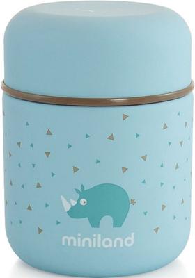 Детский термос для еды и жидкостей Miniland Silky Thermos Mini цвет голубой 280 мл 89244