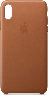 Чехол (клип-кейс) Apple Leather Case для iPhone XS Max цвет (Saddle Brown) золотисто-коричневый MRWV2ZM/A силиконовый чехол apple silicone case для iphone xs max цвет papaya свежая папайя mvf72zm a