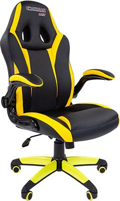 Кресло Chairman game 15 экопремиум черный/желтый 00-07028512 кресло chairman game 16 экопремиум черный желтый 00 07028514