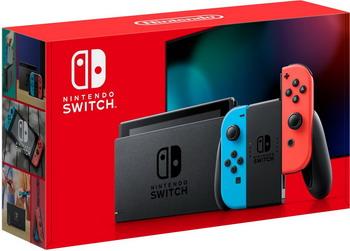 Портативная игровая приставка Nintendo Switch неоновый синий / неоновый красный игровая приставка бумбокс цена