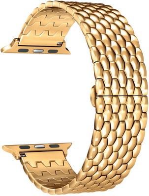Фото - Ремешок для часов Lyambda из нержавеющей стали для Apple Watch 38/40 mm KITALFA LWA-08-40-GL Gold смотреть ремешок ремешок весна бар ссылка pin remover ремонт инструмента из нержавеющей стали