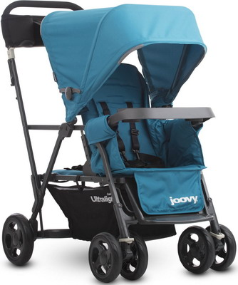 Коляска Joovy CABOOSE Graphite ULTRALIGHT голубой (для двоих детей) 8110
