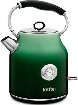 Чайник электрический Kitfort КТ-679-2 градиент зелёный фото