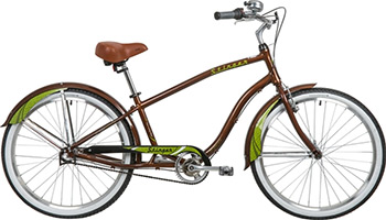 Велосипед Stinger 26'' Cruiser NEXUS L 18'' коричневый SHIMANO NEXUS REVOSHIFT 3 ск. велосипед electra cruiser betty 3i ladies' 2016