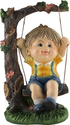 Фигурка садовая Park Мальчик на качелях 169341 недорого