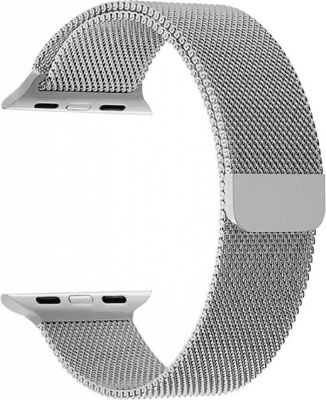 Ремешок из нержавеющей стали Lyambda для Apple Watch 42/44 mm CAPELLA DS-APM02/2-44-SL Silver