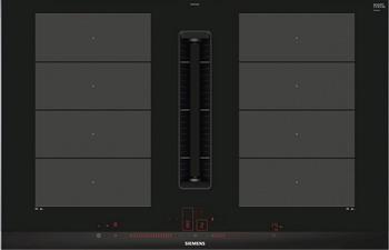 Индукционная варочная панель со встроенной вытяжкой Siemens.