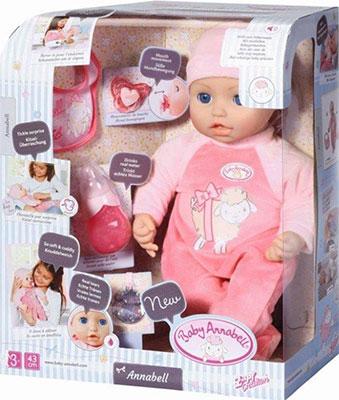 Кукла-девочка Zapf Creation Baby born Annabell многофункциональная 43 см 702-628