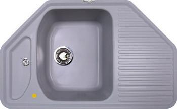 Кухонная мойка Zigmund amp Shtain ECKIG 800 млечный путь