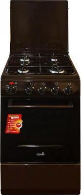 Комбинированная плита Cezaris ПГЭ 1000-05 коричневый цена