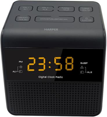 лучшая цена Радиочасы Harper HRCB-7750 amber led