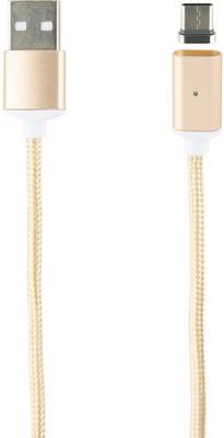 Кабель магнитный Red Line USB-Type-C нейлоновая оплетка золотой red line дата кабель usb type c 2 0 black нейлоновая оплетка