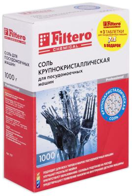 Соль Filtero крупнокристаллическая арт. 707 + 3 таблетки Filtero хлоритекс таблетки 20 гр 0 8 кг