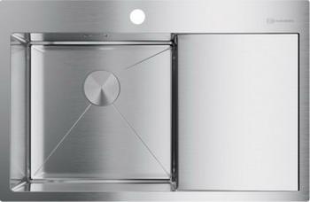 Кухонная мойка Omoikiri AKISAME 78-IN-L нержавеющая сталь (4973060) врезная кухонная мойка 78 см omoikiri akisame 78 in l нержавеющая сталь