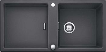 Кухонная мойка BLANCO 523605 ADON XL 6S SILGRANIT темная скала с кл.-авт. InFino