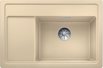 Кухонная мойка BLANCO ZENAR XL 6S Compact шампань чаша справа доска стекло c кл.-авт. InFino 523760 кухонная мойка blanco zenar xl 6s чаша справа silgranit шампань с кл авт infino 523950