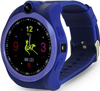 Детские часы с GPS поиском Ginzzu GZ-507 violet 1.44'' Touch nano-SIM 16833 умные часы детские ginzzu gz 511 pink 0 66 micro sim gps lbs wifi геолокация датчик снятия с руки