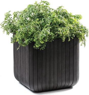 Квадратное кашпо Keter CUBE PLANTER M квадратное кашпо keter cube planter m