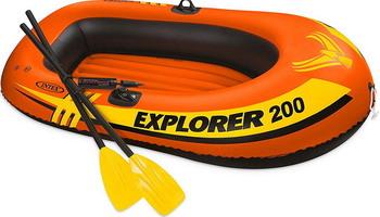 Лодка надувная Intex Explorer 200 Set 58331 лодка надувная hibernia et80